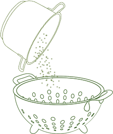 Drain well in a colander